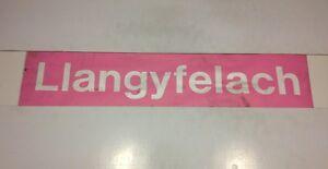 South-Wales-Bus-Destination-Blind-33-Pink-Llangyfelach