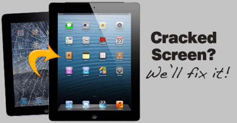 Apple Ipad 2 3 4 5 Cracked Digitizer Glass Screen Replacement Repair Service Fix