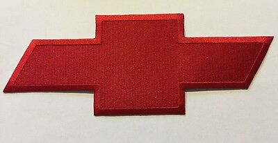 "Chevy Embroidered Bowtie Patch Chevrolet 4"" X 10"" Red"