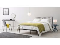 MADE COM king size black bed frame RRP 349