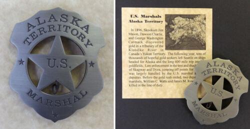 Alaska Territory U.S. Marshal Badge, vintage style shield, boxed, Klondike, US