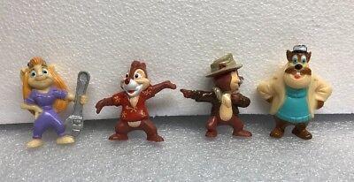 Disney Chip & Dale Set Of 4 Figures Mail away Kellogg W Mailing Box New Free Sh