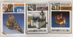 Lot 3 Schreiber Bogen Paper Model German Burg Castle Eltz Barenfels Blankenstein