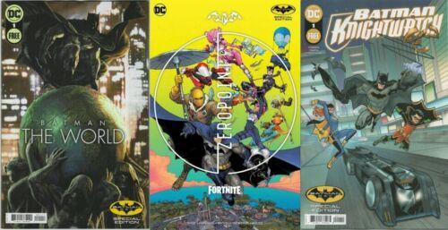 BATMAN DAY 2021 SET OF 3 BATMAN COMICS OFFERED SATURDAY SEPT 18 - UN STAMPED