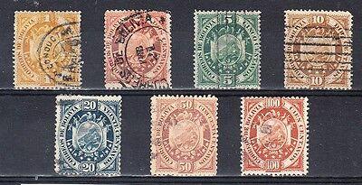 Bolivia Scott 40-46 Used (Catalog Value $74.00)