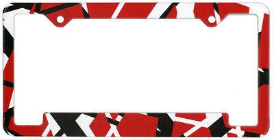 Eddie Van Halen EVH Striped License Plate Frame - New Official car auto guitar