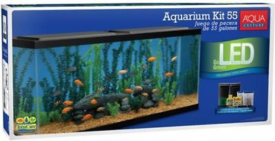 Aquarium Starter Kit with Tetra Filter, 55 Gallon, LED Natural Daylight Shimmer