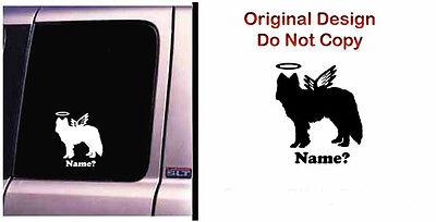 Dog Memorial Alaskan Malamute Husky Angel Decal Sticker - CA$6.00