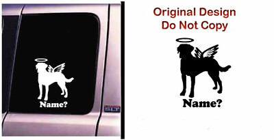 Dog Memorial Labrador Retriever 2 Angel Decal Sticker Original Design RV Truck - CA$6.00