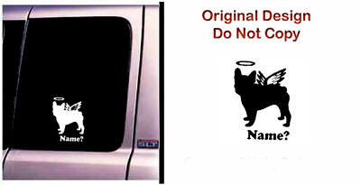 Dog Memorial French Bulldog 2 Angel Decal Sticker Original Design RV Truck - CA$6.00