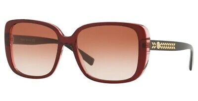 VERSACE VE4357 529013 Transparent Red Pink Gradient 56 mm Women's Sunglasses