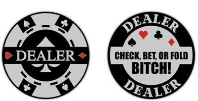Aggressive Double Sided Heavy Poker Dealer Button NEW Exclusive The Poker Store