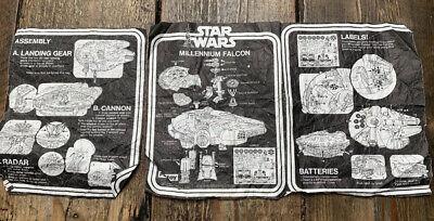 Vintage Star Wars Millennium Falcon Instructions Palitoy ANH 1977 Millenium Rare