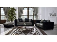 ***SPECIAL OFFER*** New Bella Sofas and Corner Groups in Crushed Velvet - SOFA KING QUICK DELIVERY
