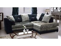 New crushed velvet sofas quick delivery