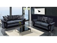 SUPER OFFER LUXURY SHANNON CORNER SOFA SET or 3+2 Black/Grey Brown/Beige SOFA KING QUICK DELIVERY