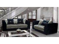 New kate sofa collection crushed velvet