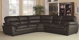 HALF PRICE LEATHER SOFAS AND CORNER GROUPS - IN STOCK FOR QUICK DELIVERY BLACK BROWN CREAM
