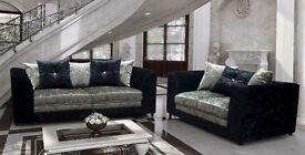 ***stunning dylan crushed velvet sofas***