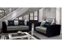 Black and silver brand new velvet sofas