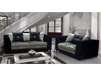 Crushed velvet designer sofas