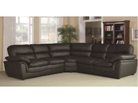 HALF PRICE LEATHER SOFAS AND CORNER GROUPS - In Stock For Quick Delivery Black Brown Ceam