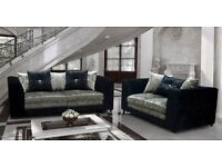 Crushed velvet sofas brand new