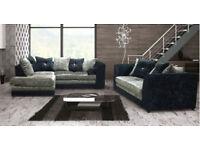 50% off Byron Velvet Brand New Corner Sofa