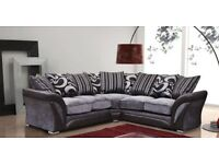 50% off BRAND NEW dfs Shannon corner SOFA FREE STORAGE POUFFE MATCHING RUGS