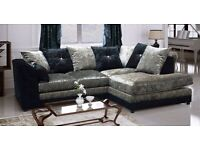 Stunning crushed velvet sofa suite