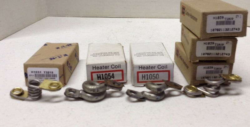 Eaton Cutler-Hammer Overload Protection Heater Elements LOT OF 6 Assorted
