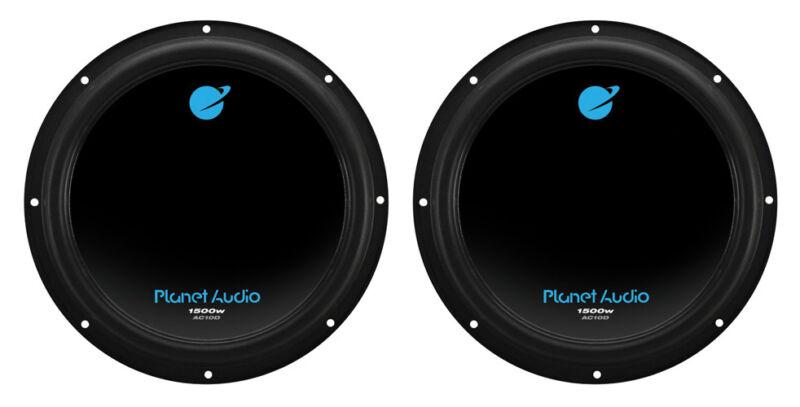 """Planet Audio AC10D 10"""" 1500 Watt 4 Ohm Dual Voice Coil Car Audio Subwoofer, Pair"""