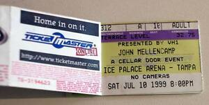 JOHN MELLANCAMP 2 rare billet tickets concert Tampa USA 10/07/1999 - Paris, France métropolitaine - JOHN MELLANCAMP 2 rare billet tickets concert Tampa USA 10/07/1999Original used ticket Ticket original et utilisé collectionnerEtat correct / Fair condition2 tickets agrafés + souche / 2 stapled tickets with stub Envoi ra - Paris, France métropolitaine