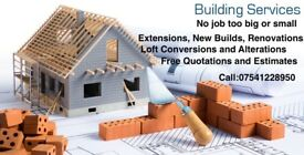 Extensions, New Builds, Renovations, Loft Conversions and Alterations, all to high standards