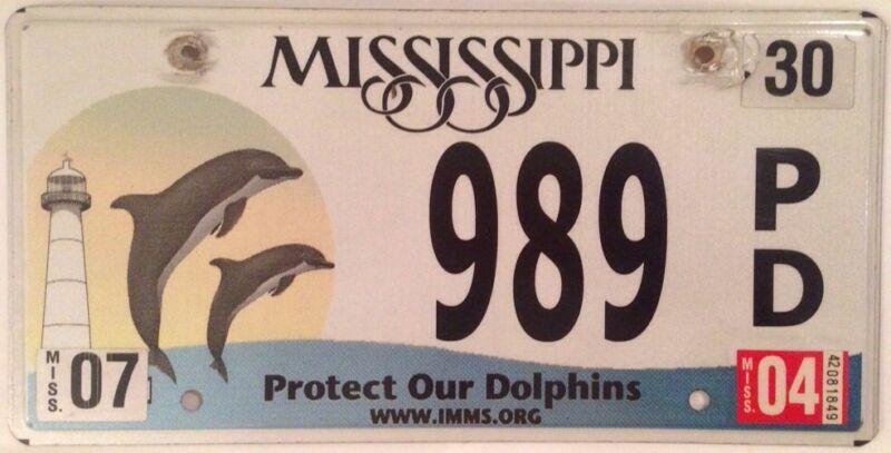 PALINDROME Dolphins #989 license plate Marine Mammal Dolphin Aquarium PD IMMS