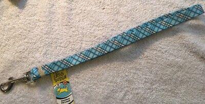 "Blue Kilt Print 3/4"" x 60"" Standard Pet Leash by Yellow Dog Design Free Ship"