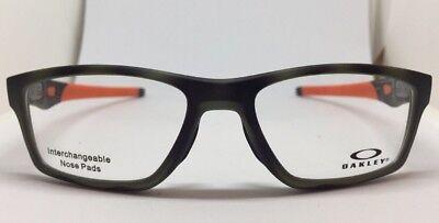 NEW Oakley OX8090-0753 Crosslink Green Tortoise 53.17.137 Eyeglass Frames
