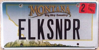 Montana vanity ELK SNIPER license plate Hunter Sportsman Hunting Lodge Rifle Gun