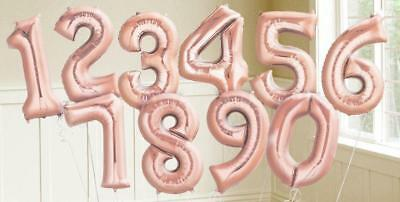 US 16'' Number Foil Ballons Air Baloons Birthday Party Wedding Festival - Number Baloons