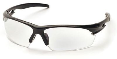 Pyramex Ionix Safety Glasses with Black Frame and Clear Anti-Fog Lenses