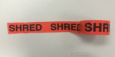 24 Rolls Uline Red Tape 2 Inch X 55 Yards Imprinted W The Word Shred 3 Core