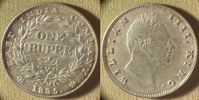 India : 1935(b) 1 Rupee CH.AU Ding On Cheek   Nice Luster  #450.1   IR8503