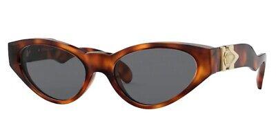 VERSACE VE4373 521787 Havana Smoke 54 mm Women's Sunglasses