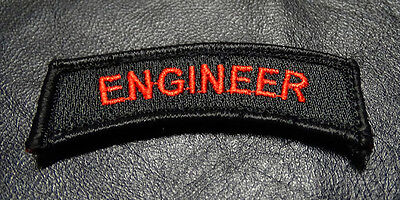 ENGINEER TAB 2.75 inch ACU TACTICAL TAB ROCKER MILITARY MORALE HOOK LOOP PATCH
