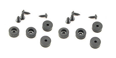 "8 Pack  Rubber Feet - Bumpers 1/2"" Dia. x 1/4"" Tall-With Screws  F5250X8"