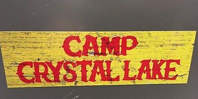 Camp Crystal Lake Bumper Sticker Jason Voorhees Friday the 13th Sign 9