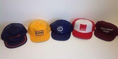 6254 Lot Of Vintage Snapback Trucker Hats