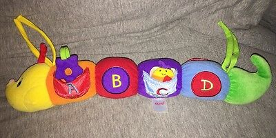 Baby Gund Tinkle, Crinkle, Rattle And Squeak Activity Toy Caterpillar Plush Ties