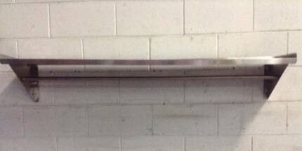 Kitchen Cafe Bakery Wall Utility Shelf Rack/Hang Rail 1500X300mm