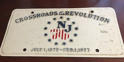License Plate Crossroads Revolution New Jersey July 1-1975 February 1 1977*